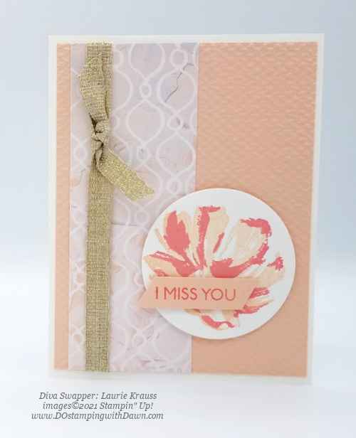 Stampin' Up! Fine Art Floral card swap shared by Dawn Olchefske #dostamping #cardmaking (Laurie Krauss)