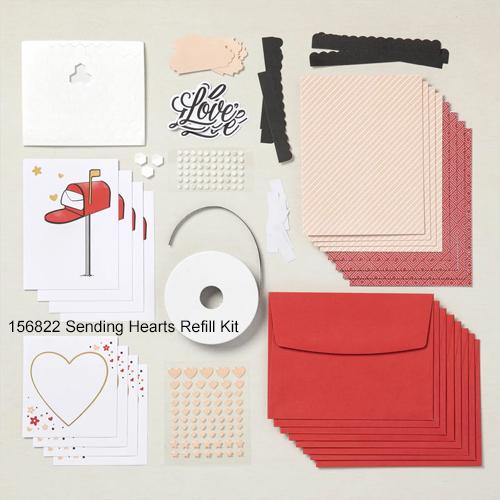 Paper Pumpkin Sending Hearts refill kit Jan 2021 #dostamping #howdSheDOthat #cardkits