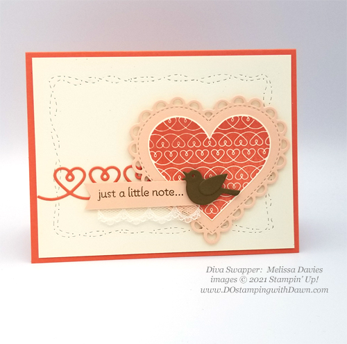 Stampin' Up! Lots of Hearts swap card shared by Dawn Olchefske #dostamping #cardmaking (Melissa Davies)