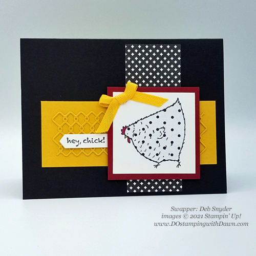 Stampin' Up! Hey Chick Bundle card shared by Dawn Olchefske #dostamping #howdSheDOthat #heychick (Deb-Snyder)