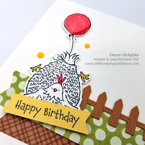 Stampin' Up! Hey Birthday Chick Bundle card by Dawn Olchefske #dostamping #howdSheDOthat #heybirthdaychick-cu