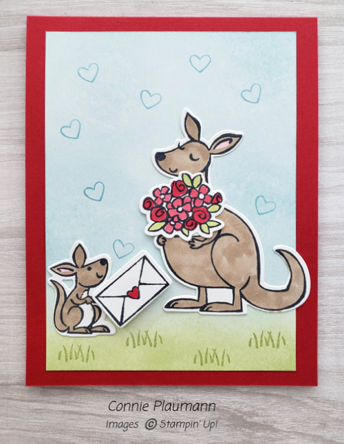 Kangaroo & Company card shared by Dawn Olchefske made by DOstamperSTAR Connie Plaumann #dostamping #stampinup #valentinesdaycards-1