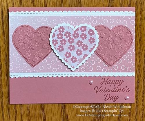 Heart Punch Pack shared by Dawn Olchefske made by DOstamperSTAR Nicole Winkelman #dostamping #stampinup #valentinesdaycards-1