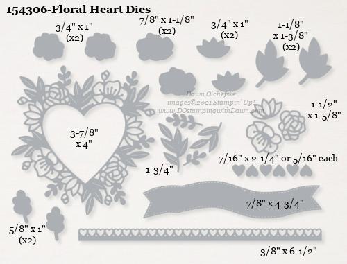 154306-Stampin' Up! Floral Heart Dies measurements #DOstamping #stampinup #stampincut #cardmaking #HowdSheDOthat #papercrafting