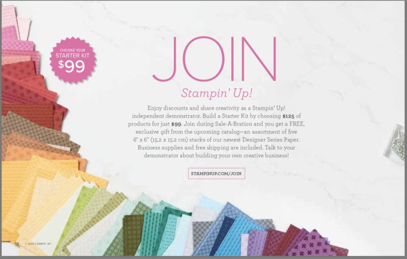 Sale-a-Bration Join the STARS add-on gift. Join with Dawn Olchefske #dostamping #stampinup
