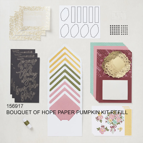 Paper Pumpkin Bouquet of Hope February 2019 refill kit alternate ideas from Dawn Olchefske #dostamping #cardkits #howdSheDOthat