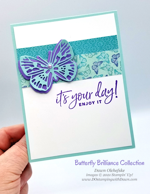 Stampin' Up! Butterfly Brilliance Collection card by Dawn Olchefske #dostamping #howdSheDOthat-pph