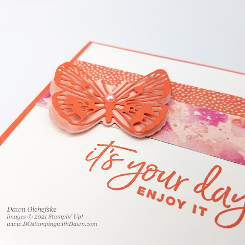 Stampin' Up! Butterfly Bijou Designer Series Paper card by Dawn Olchefske #dostamping #howdSheDOthat-ccu