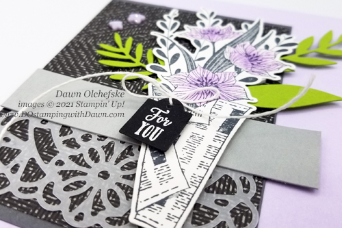 Stampin' Up! Wrapped Bouquet Bundle card by Dawn Olchefske #dostamping #HowdSheDOthat #papercrafting-fb