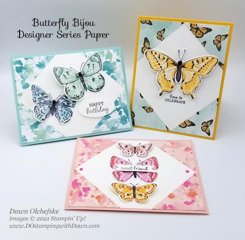 Butterfly Bijou Designer Series Paper Sketch card by Dawn Olchefske for DOstamperSTARS #DOswts358 #howdSheDOthat #stampinup #dostamping-g-2