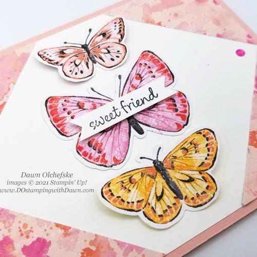 Butterfly Bijou Designer Series Paper Sketch card by Dawn Olchefske for DOstamperSTARS #DOswts358 #howdSheDOthat #stampinup #dostamping-3