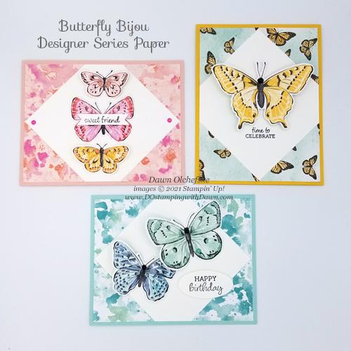 Butterfly Bijou Designer Series Paper Sketch card by Dawn Olchefske for DOstamperSTARS #DOswts358 #howdSheDOthat #stampinup #dostamping-g-3