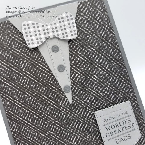 Stampin' Up! Handsomely Suited Bundle card by Dawn Olchefske #dostamping #HowdSheDOthat #papercrafting #masculine-cu