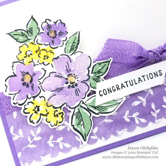 Sneak peak Stampin' Up! Hand-Penned Petals Bundle card by Dawn Olchefske #DOstamping #HowdSheDOthat #papercrafting-c
