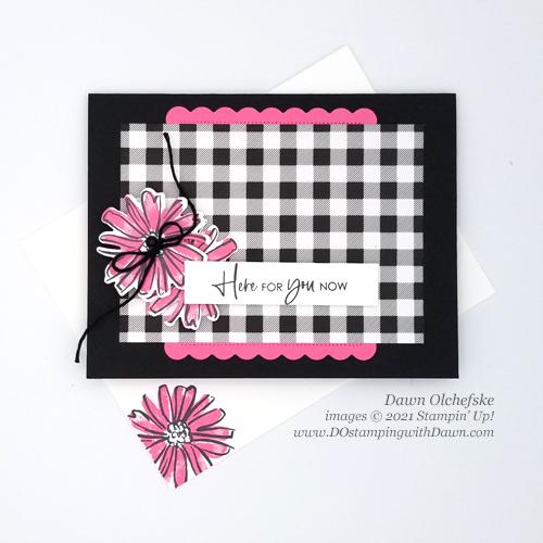 Stampin' Up! Color & Contour Bundle card with Pattern Party FREE Stampin' Rewards -Designer Series Paper by Dawn Olchefske for DstamperSTARS #DOswtds362 #dostamping #HowdSheDOthat-e
