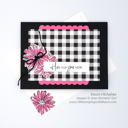Stampin' Up! Color & Contour Bundle card with Pattern Party FREE Stampin' Rewards -Designer Series Paper by Dawn Olchefske for DstamperSTARS #DOswtds362 #dostamping #HowdSheDOthat-e