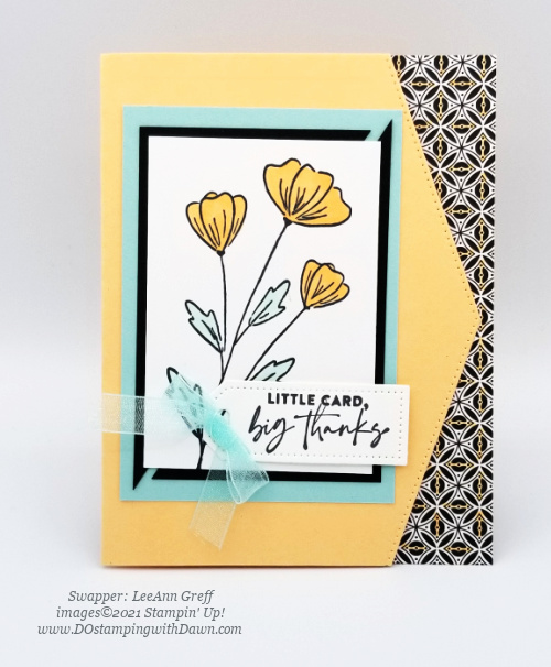 Stampin' Up! Flowers of Friendship Bundle swap cards shared by Dawn Olchefske #dostamping #flowersofFriendship (LeeAnn Greff) (1)