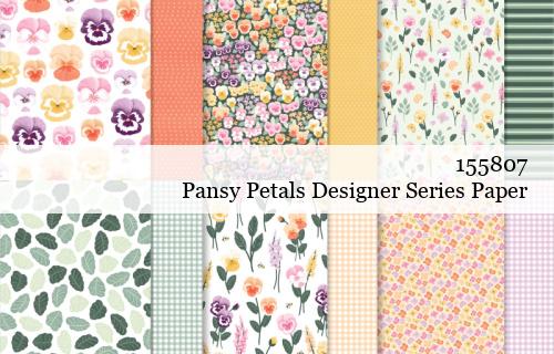 155807 Stampin' Up! Pansy Petals Designer Series Paper shared by Dawn Olchefske #dostamping #stampinup #handmade #cardmaking #stamping #papercrafting