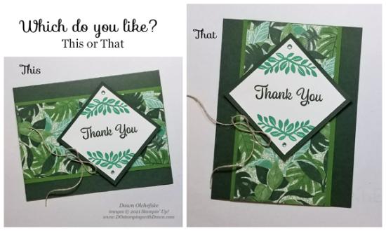 This or That  Plentiful Plants sketch card by Dawn Olchefske #dostamping #HowdSheDOthat #DOswts364 #dostamperstars