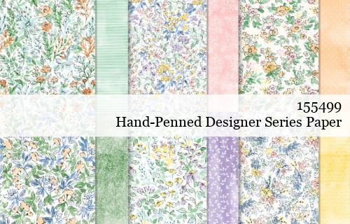 155499 Stampin' Up! Hand Penned Designer Series Paper shared by Dawn Olchefske #dostamping #stampinup #handmade #cardmaking #stamping #papercrafting