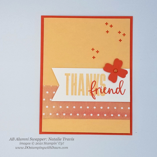Stampin' Up! Designer Series Paper Sale You're a Peach swap cards shared by Dawn Olchefske #dostamping #YoureaPeach-Natalie Travis-2