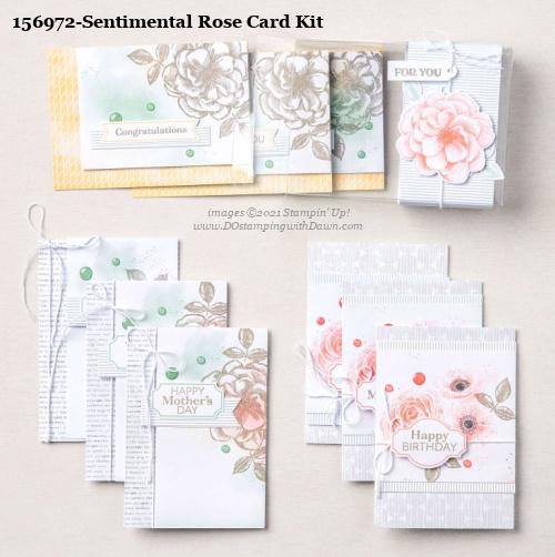 Stampin' Up! Sentimental Rose Card Making Kit shared by Dawn Olchefske #dostamping #cardmakingkit