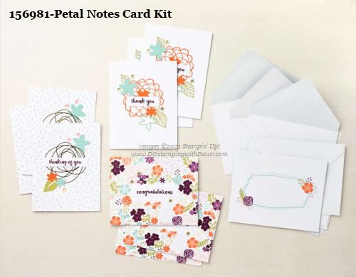 Stampin' Up! Petal Notes Card Making Kit shared by Dawn Olchefske #dostamping #cardmakingkit