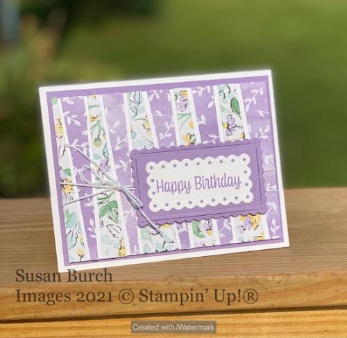 Stampin' Up! Designer Series Paper Hand-Penned card shared by Dawn Olchefske #dostamping (DOstamperSTAR Susan Burch) (1)