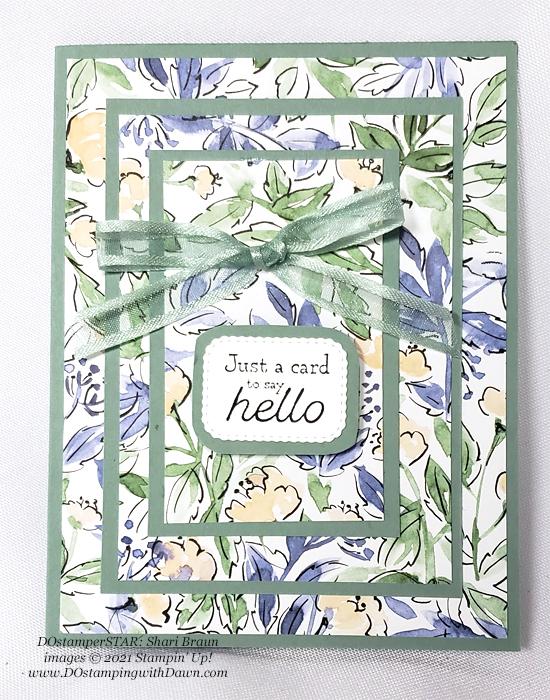 Stampin' Up! Hand-Penned Designer Series Paper card shared by Dawn Olchefske #dostamping (DOstamperSTAR Shari Braun)