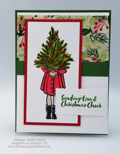 Stampin' Up! Delivering Cheer cards shared by Dawn Olchefske #dostamping #christmascards (Sandy Carlson)