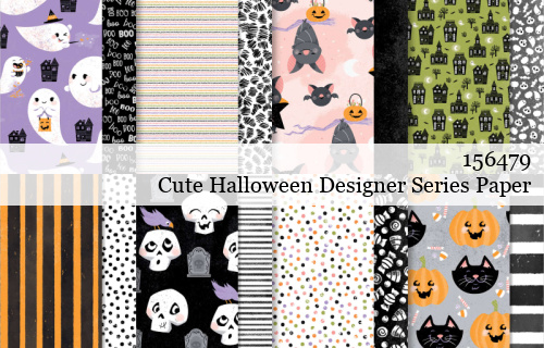 156479-Cute Halloween Designer Series Paper shared by Dawn Olchefske #dostamping #stampinup #handmade #cardmaking #stamping #papercrafting