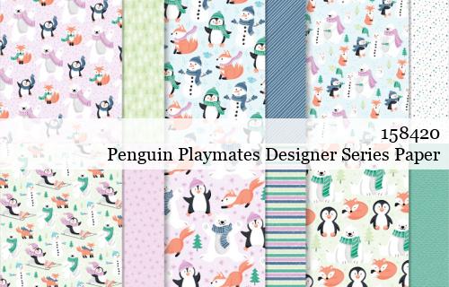 158420-Penguin Playmates Designer Series Paper shared by Dawn Olchefske #dostamping #stampinup #handmade #cardmaking #stamping #papercrafting