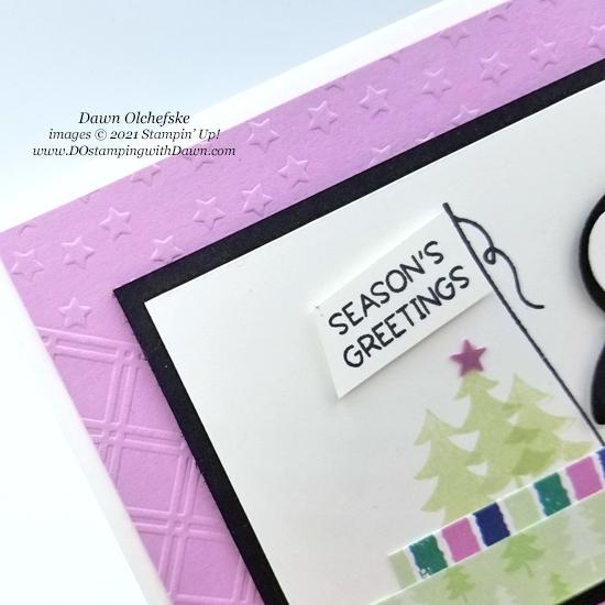 Fabulous Star-Crossed Embossing Folder with Penguin Place Bundle and FREE Sale-a-bration Penguin Playmates Designer Series Paper card by Dawn Olchefske - #dostamping #HowdSheDOthat #stampinup #penguinpunch #stampinup