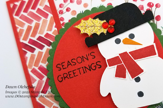 Snowman Punch Art with Penguin Place Bundle by Dawn Olchefske #dostamping #HowdSheDOthat #stampinup #punch art -cu