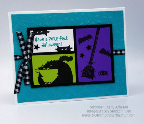 Stampin' Up! Clever Cats cards shared by Dawn Olchefske #dostamping #halloween (Kelly Acheson)
