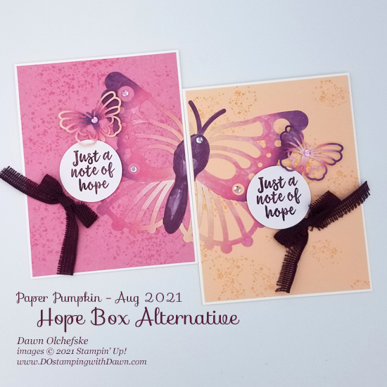 August 2021 Hope Box Paper Pumpkin Alternative Bonus Tutorialsl from Dawn Olchefske #dostamping #howdSheDOthat #paperpumpkin g