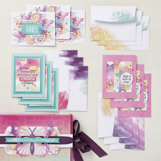August 2021 Hope Box Paper Pumpkin Kit shop shared by Dawn Olchefske #dostamping #paperpumpkin