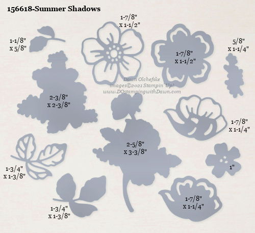 Stampin' Up! Summer Shadows Dies-156618 Sale-a-Bration FREE Choice SHOP with Dawn Olchefske #dostamping #howdSheDOthat