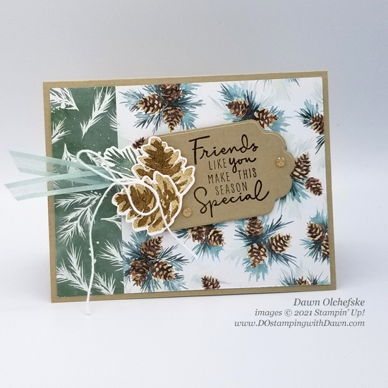 Stampin' Up! Painted Christmas Suite card by Dawn Olchefske Stamping with the STARS sketch challenge #DOswts370 #dostamping #HowdSheDOthat #DOstamperSTARS