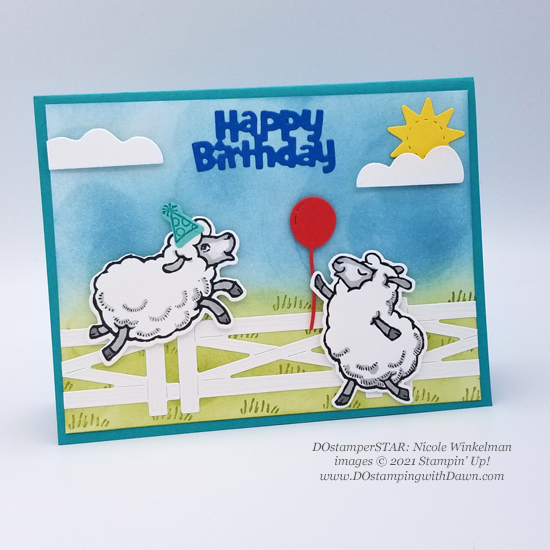 FREE Sale-a-Bration Counting Sheep swap cards shared by Dawn Olchefske #dostamping #stampinup (DOstamperSTAR Nicole Winkelmann)