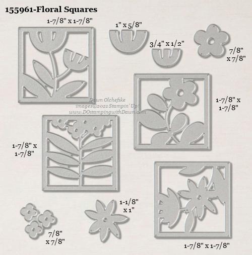 155961-Stampin' Up! Floral Squares Dies measurements #DOstamping #stampinup #stampincut #cardmaking #HowdSheDOthat #papercrafting