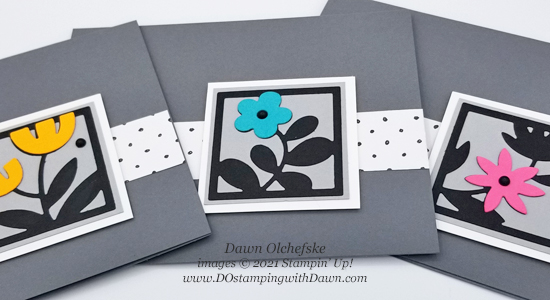 Stampin' Up! Floral Squares Dies with FREE Sale-a-Bration Beautifully Penned Paper card by Dawn Olchefske #dostamping #HowdSheDOthat #stampinup #cardmaking-cg