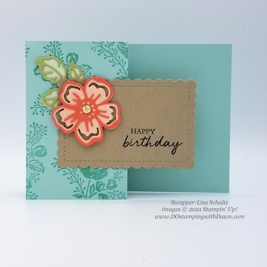 FREE Sale-a-Bration Summer Shadows Dies swap cards shared by Dawn Olchefske #dostamping #stampinup (Lisa Schultz)