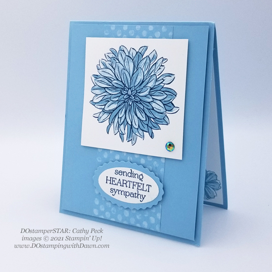 FREE Sale-a-Bration Delicate Dahlias swap cards shared by Dawn Olchefske #dostamping #stampinup (DOstamperSTAR Cathy Peck)