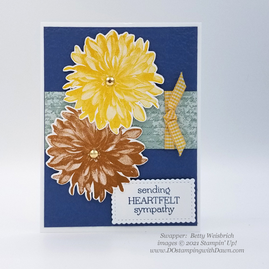 FREE Sale-a-Bration Delicate Dahlias swap cards shared by Dawn Olchefske #dostamping #stampinup (Betty Weisbrich)