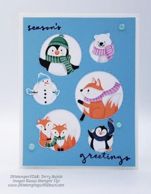 FREE Sale-a-Bration Penguin Playmates Designer Series Paper swap cards shared by Dawn Olchefske #dostamping #stampinup (DOstamperSTAR Terry Rajala) (1)