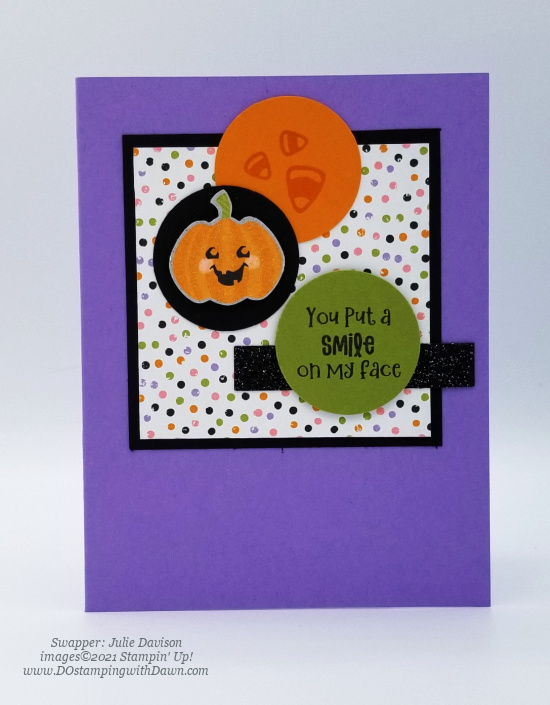 Stampin' Up! Cute Halloween Suite swap cards shared by Dawn Olchefske #dostamping #stampinup (Julie Davison) (1)