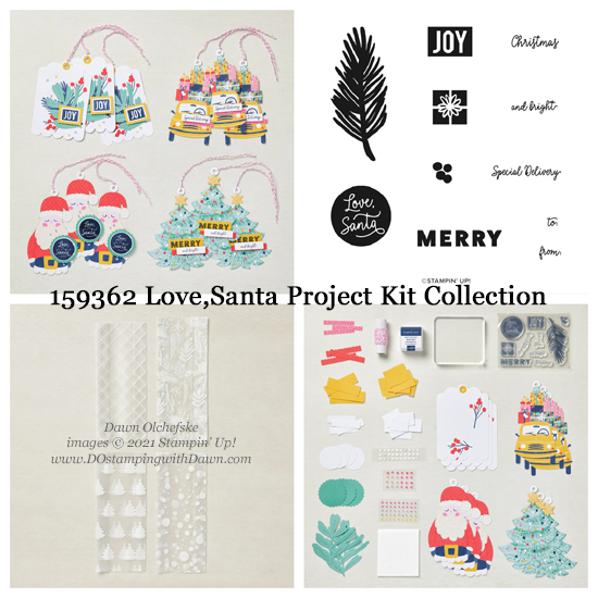 Stampin' Up! Love  Santa Project Kit Collection (159362) #dostamping