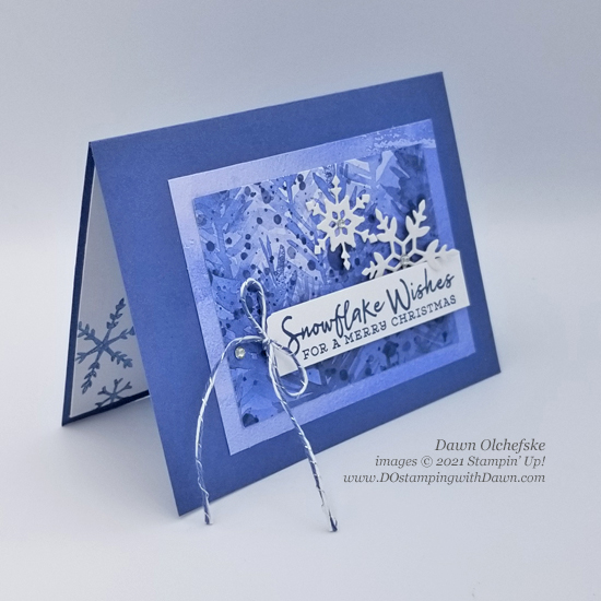 Stampin' Up! Snowflake Wishes card by Dawn Olchefske Stamping with the STARS sketch challenge #DOswts372 #dostamping #HowdSheDOthat #DOstamperSTARS s