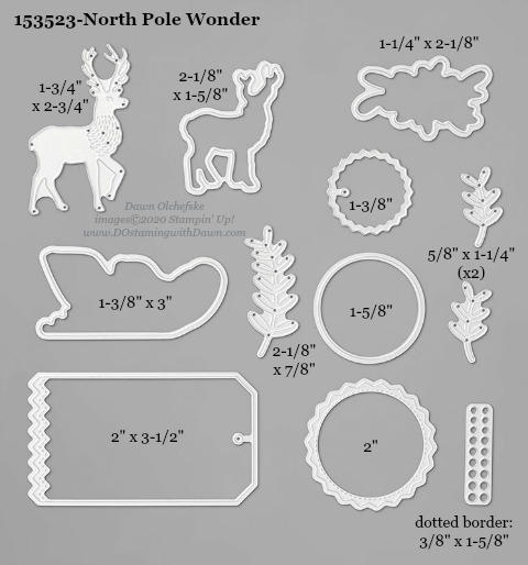 153523-Stampin' Up! North Pole Wonder Die measurements #DOstamping #stampinup #stampincut #cardmaking #HowdSheDOthat #papercrafting